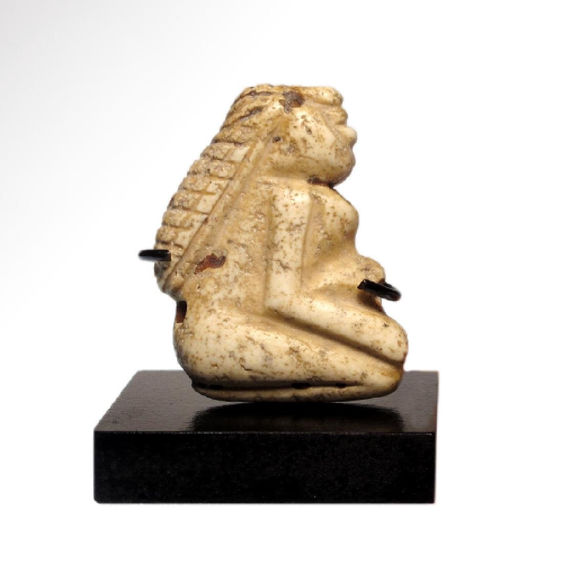 Sumerian Limestone Figure of a Lady Worshipper Seal, c. - 3