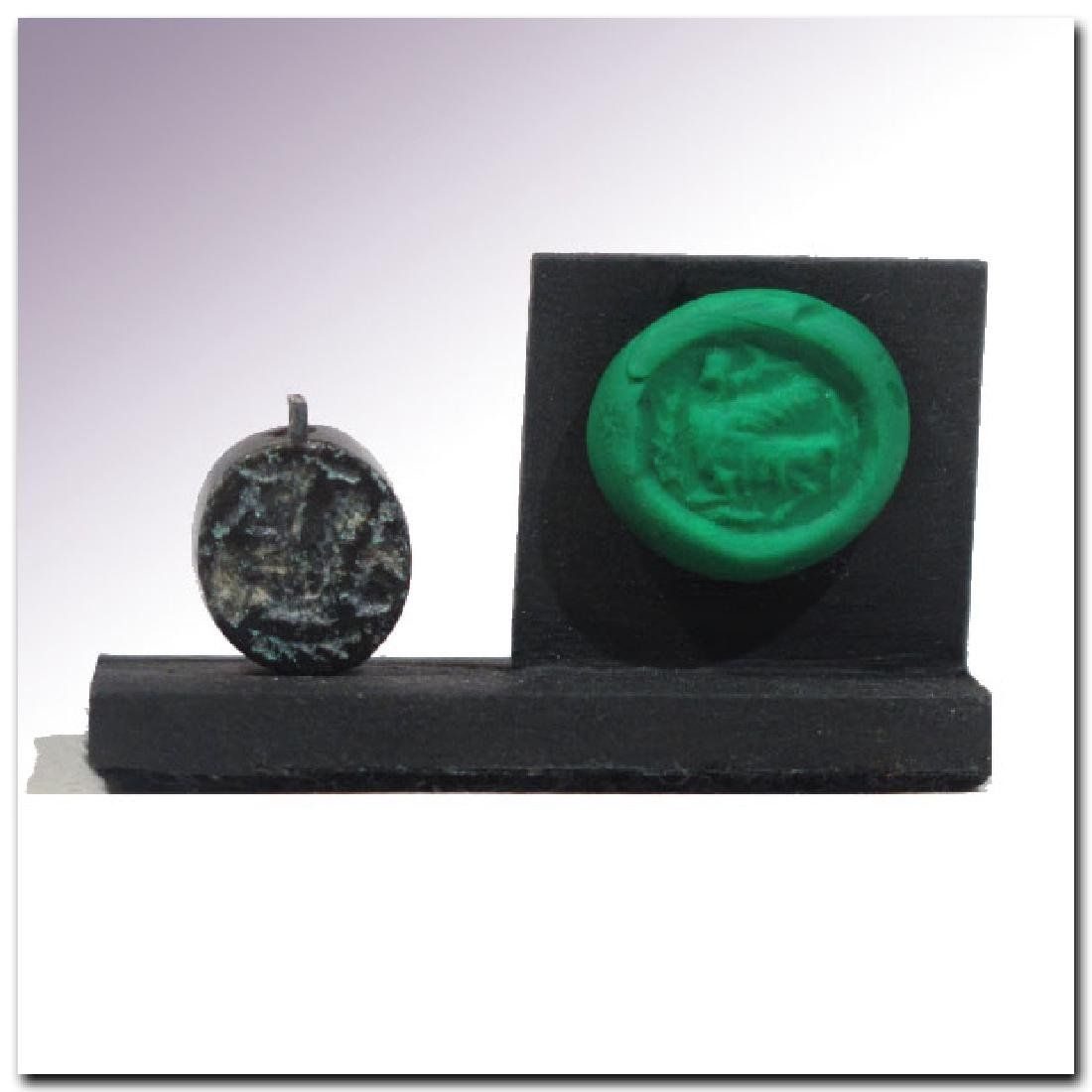 Phoenician Steatite Seal with Sphinx, c. 6th-5th