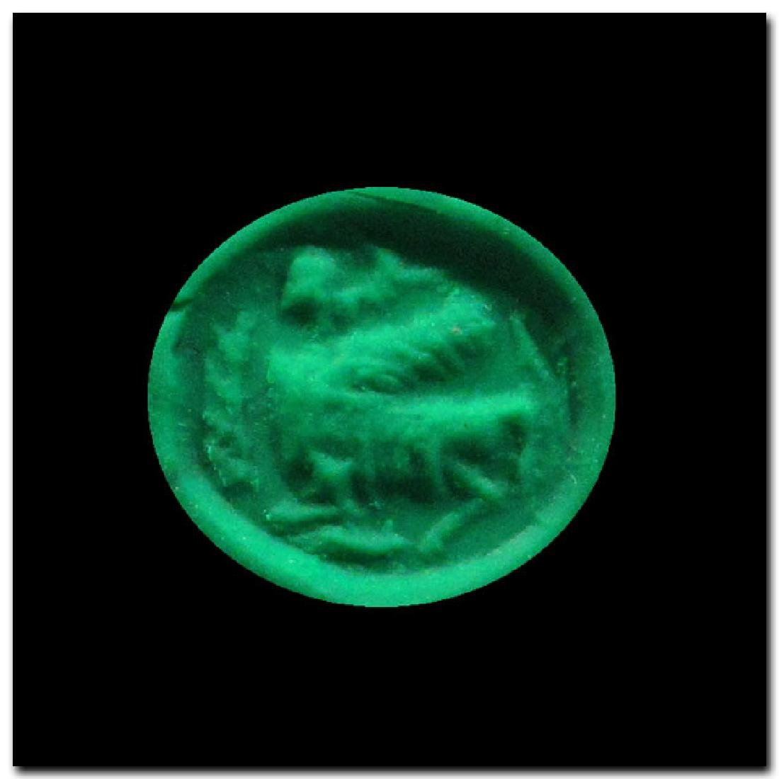 Phoenician Steatite Seal with Sphinx, c. 6th-5th - 2