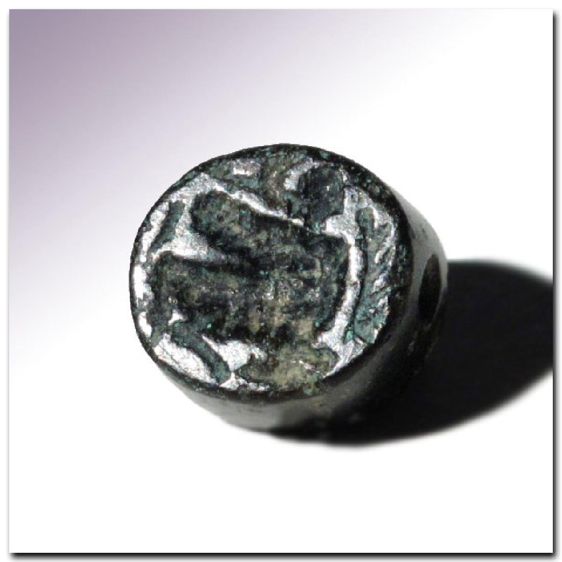 Phoenician Steatite Seal with Sphinx, c. 6th-5th - 3