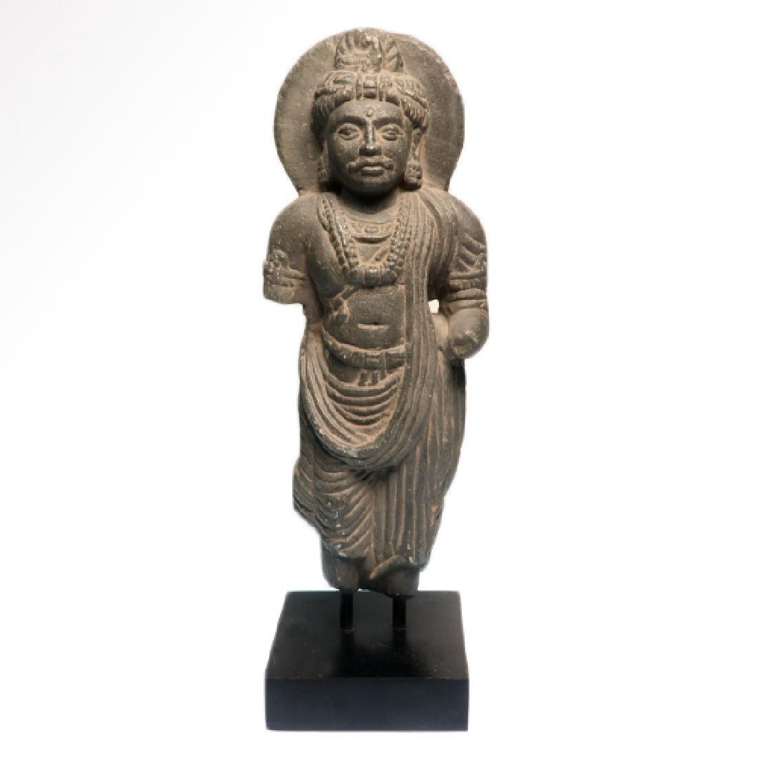 Gandhara Schist Figure of a Standing Buddha, c. 2nd-3rd