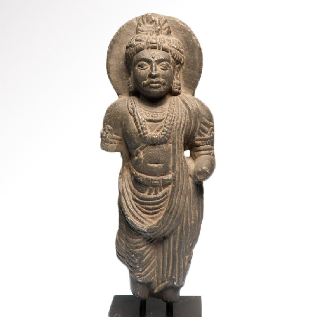 Gandhara Schist Figure of a Standing Buddha, c. 2nd-3rd - 2