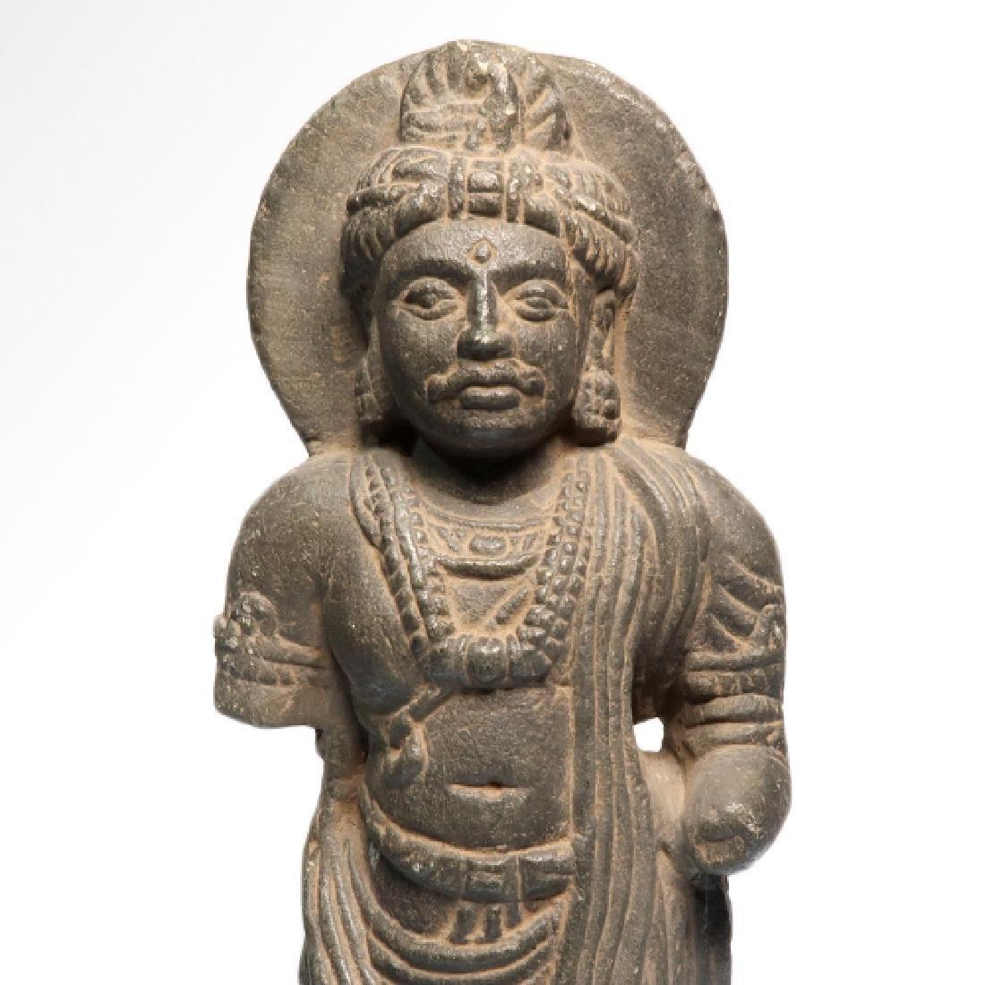Gandhara Schist Figure of a Standing Buddha, c. 2nd-3rd - 3