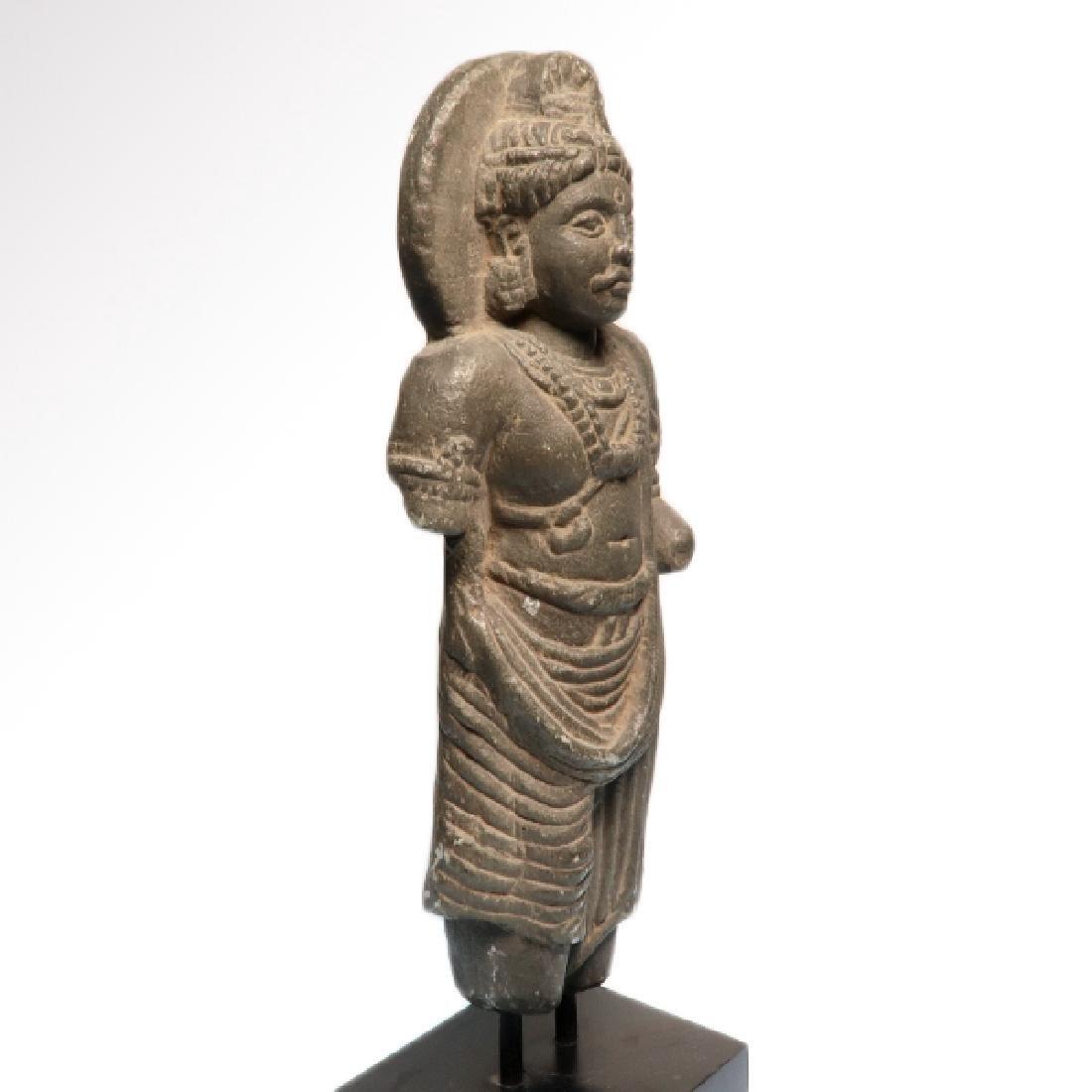 Gandhara Schist Figure of a Standing Buddha, c. 2nd-3rd - 4