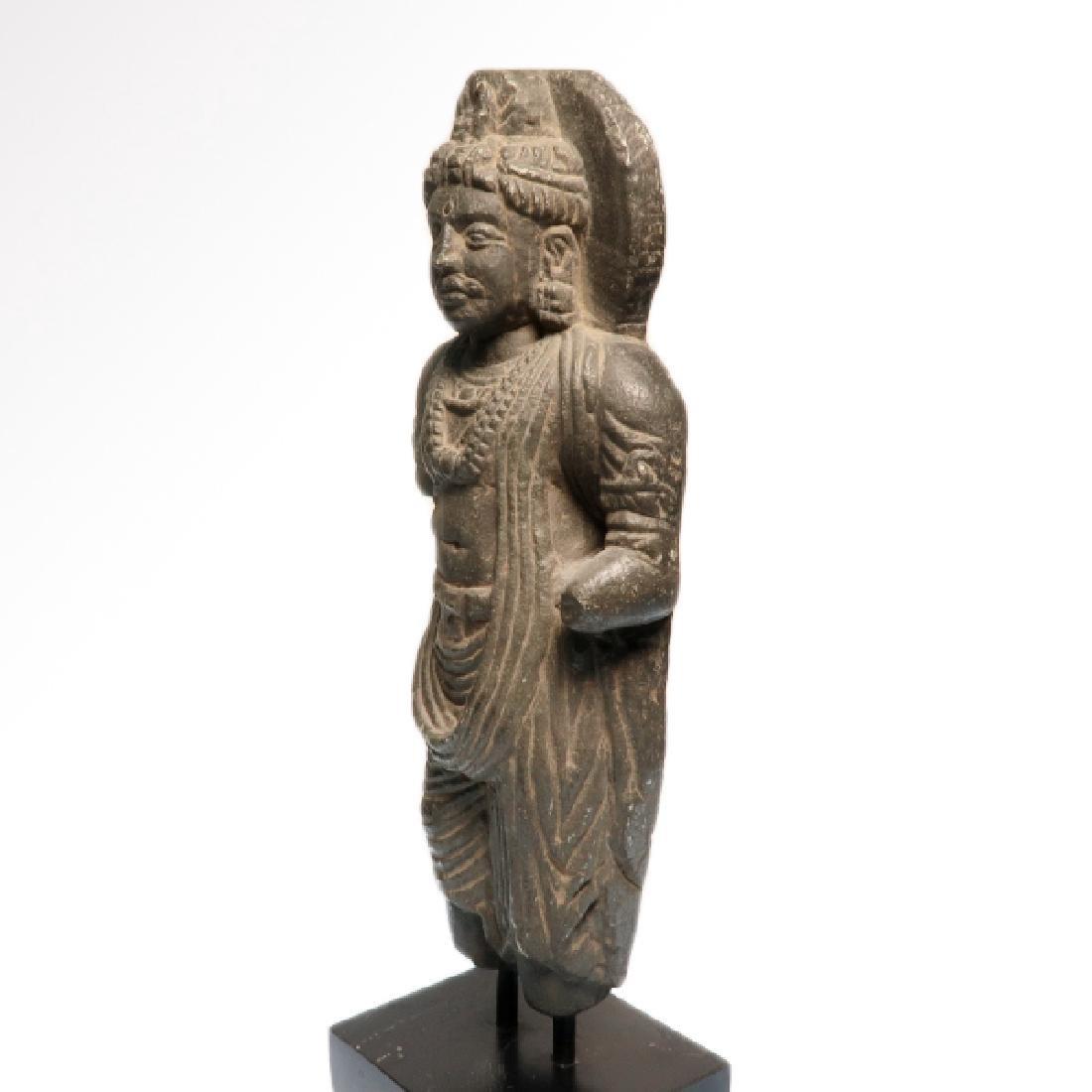 Gandhara Schist Figure of a Standing Buddha, c. 2nd-3rd - 5