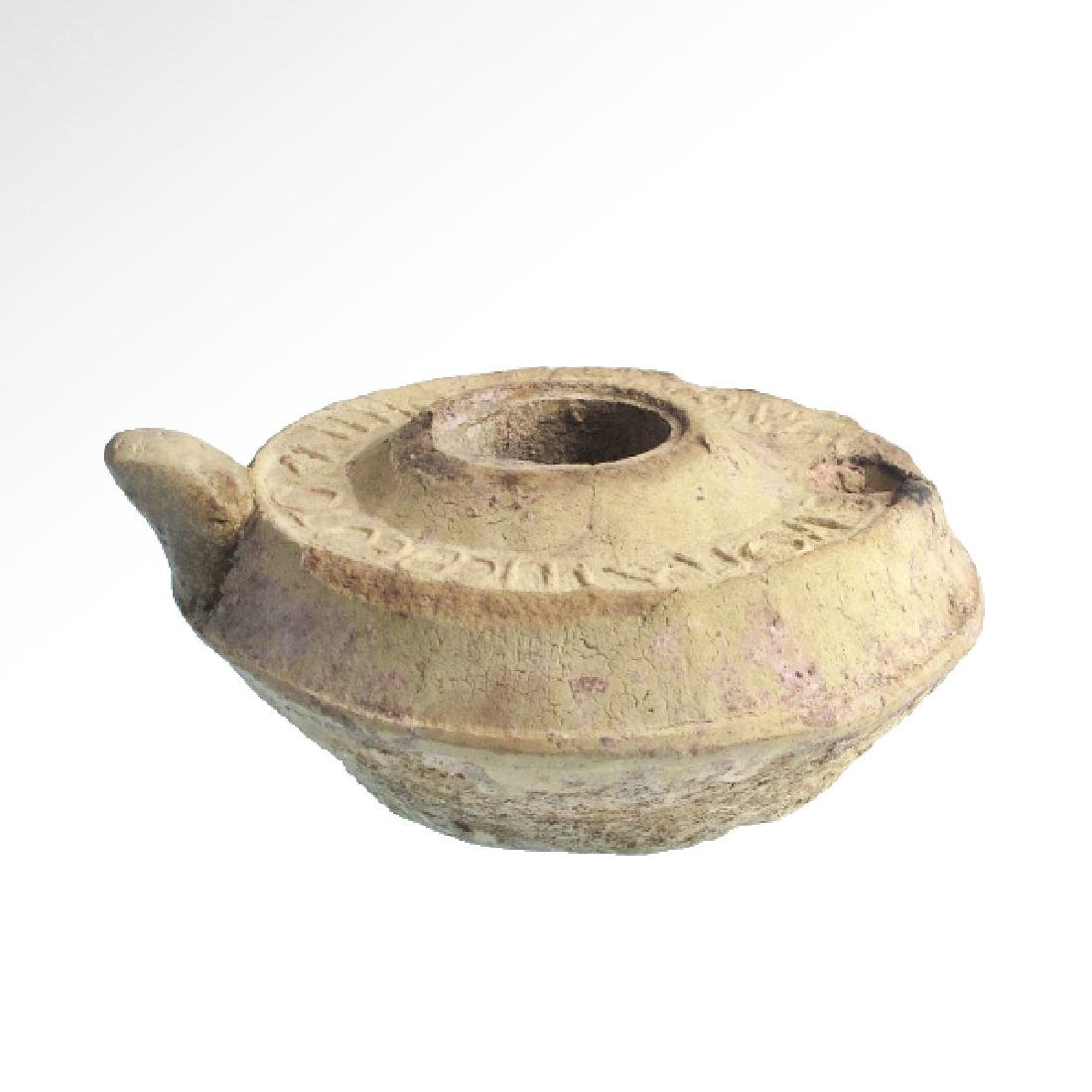 Byzantine Oil Lamp with Christian Inscriptions, c. - 3