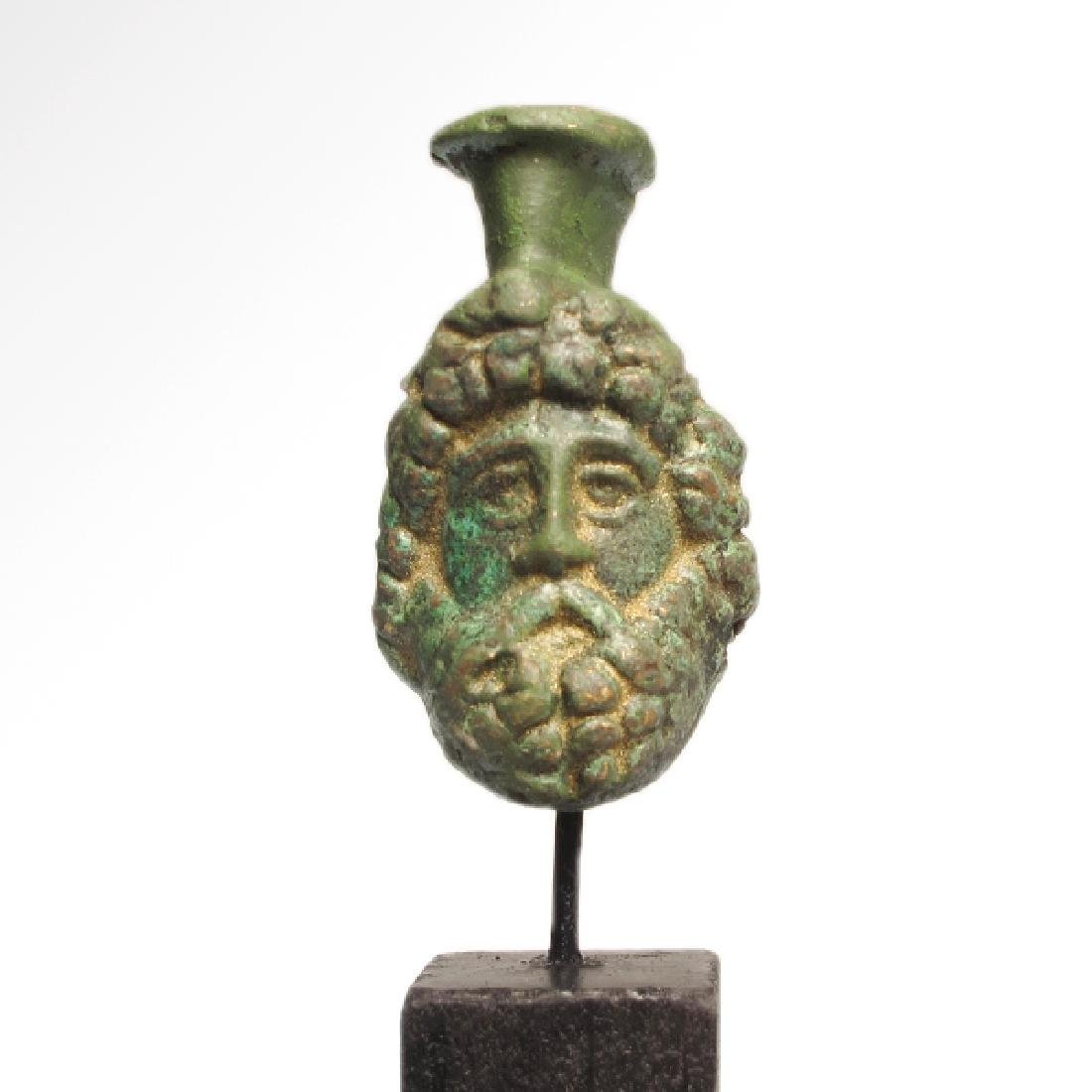 Roman Bronze Head of Zeus-Serapis, c. 1st Century A.D. - 2