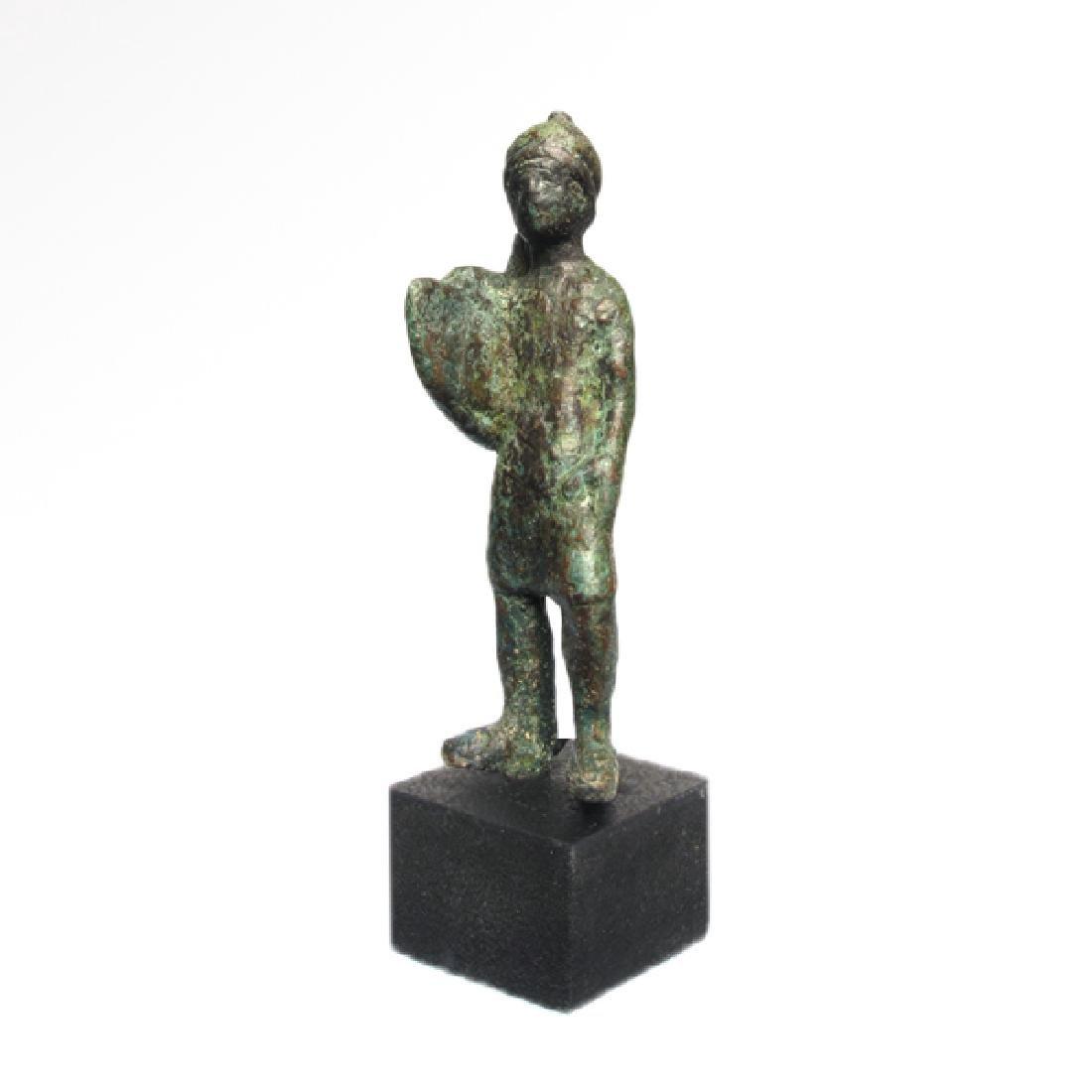 Celtic Bronze Gladiator Holding Shield, 1st Century