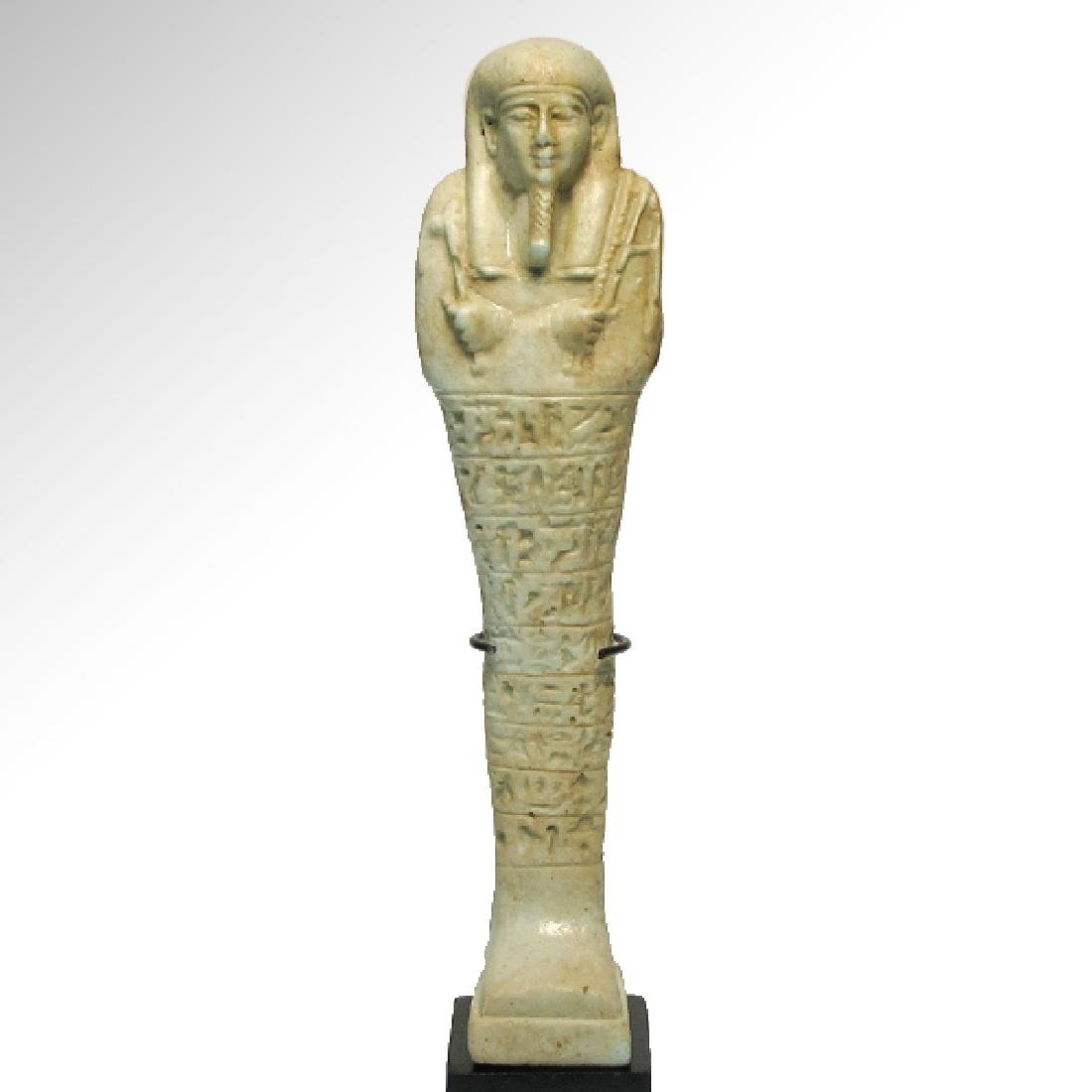 Large Egyptian Faience Inscribed Shabti,c. 600-400 B.C. - 2