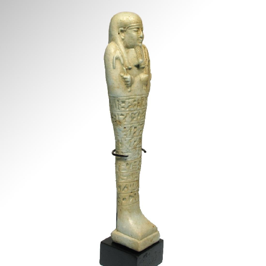 Large Egyptian Faience Inscribed Shabti,c. 600-400 B.C. - 6