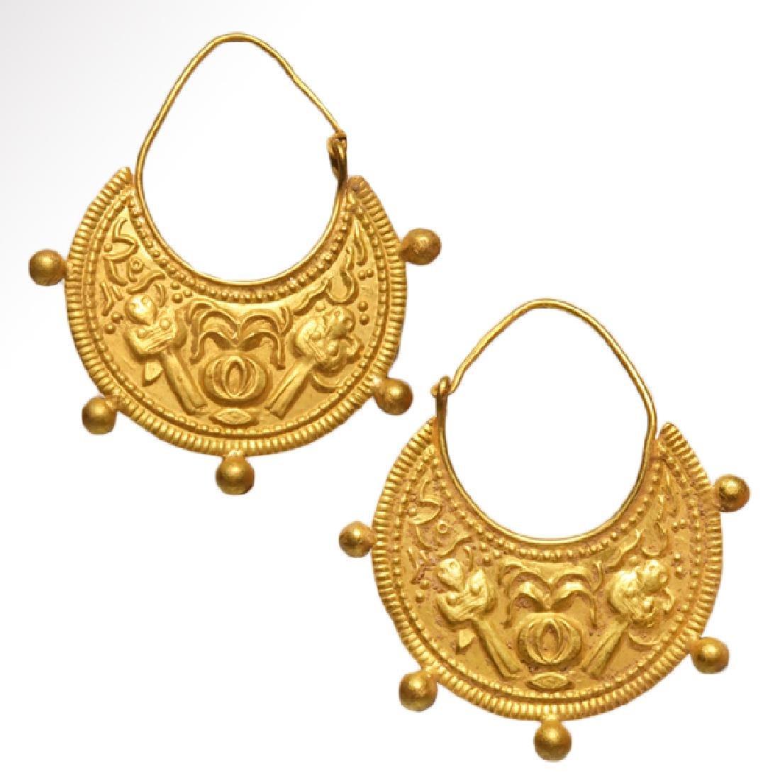 Roman / Early Byzantine Gold Earrings