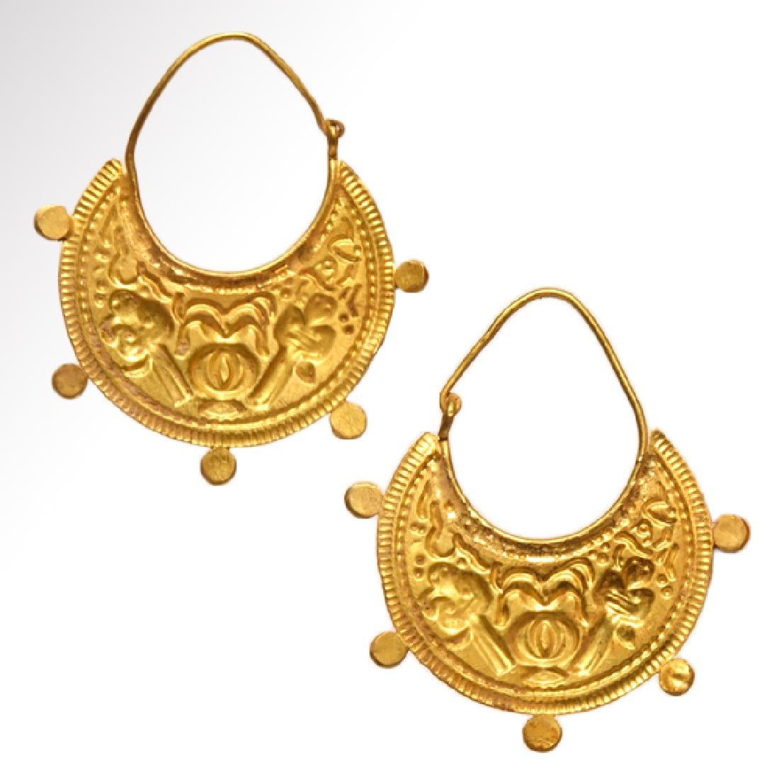 Roman / Early Byzantine Gold Earrings - 4