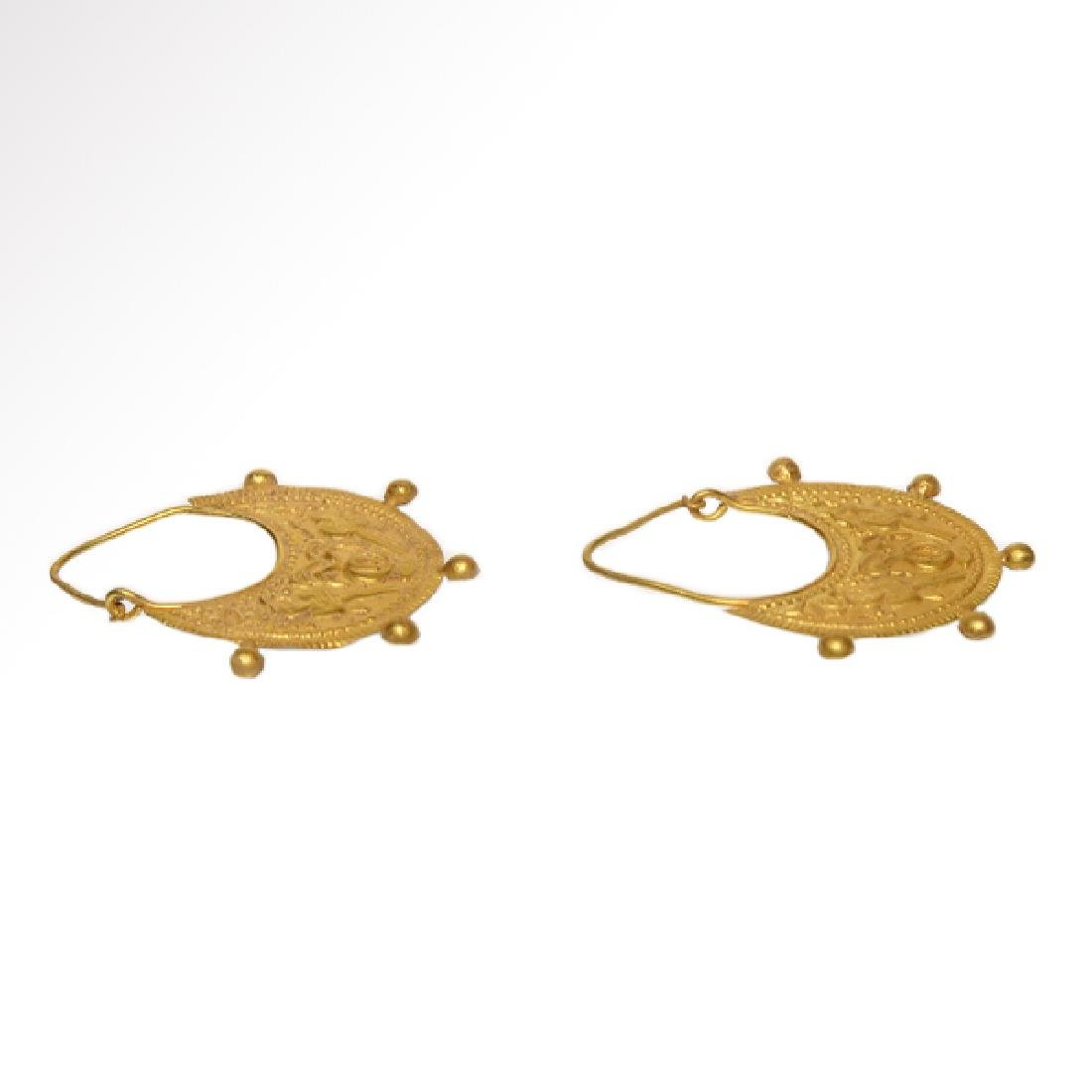 Roman / Early Byzantine Gold Earrings - 6
