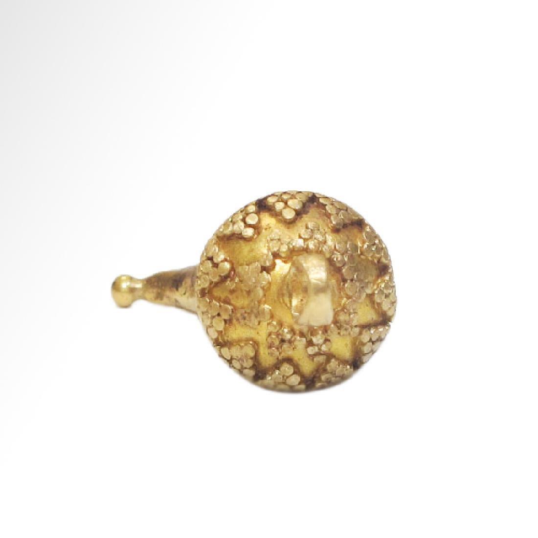 Roman Gold Pendant, Cornucopia, c. 2nd Century A.D. - 6