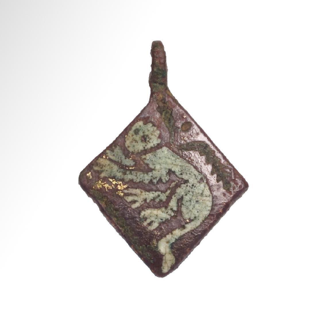 Medieval Enamelled Bronze Pendant