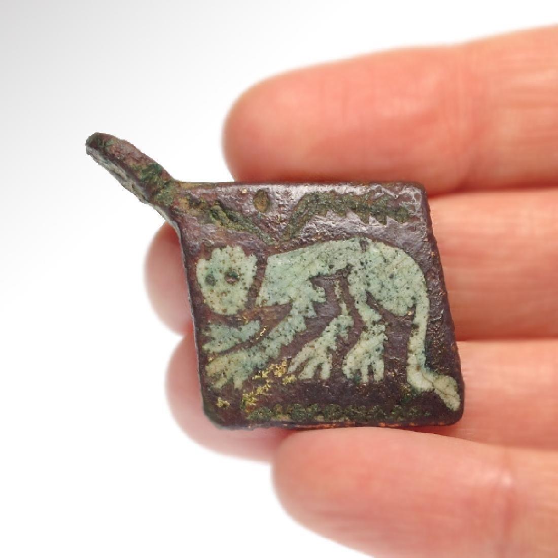 Medieval Enamelled Bronze Pendant - 2