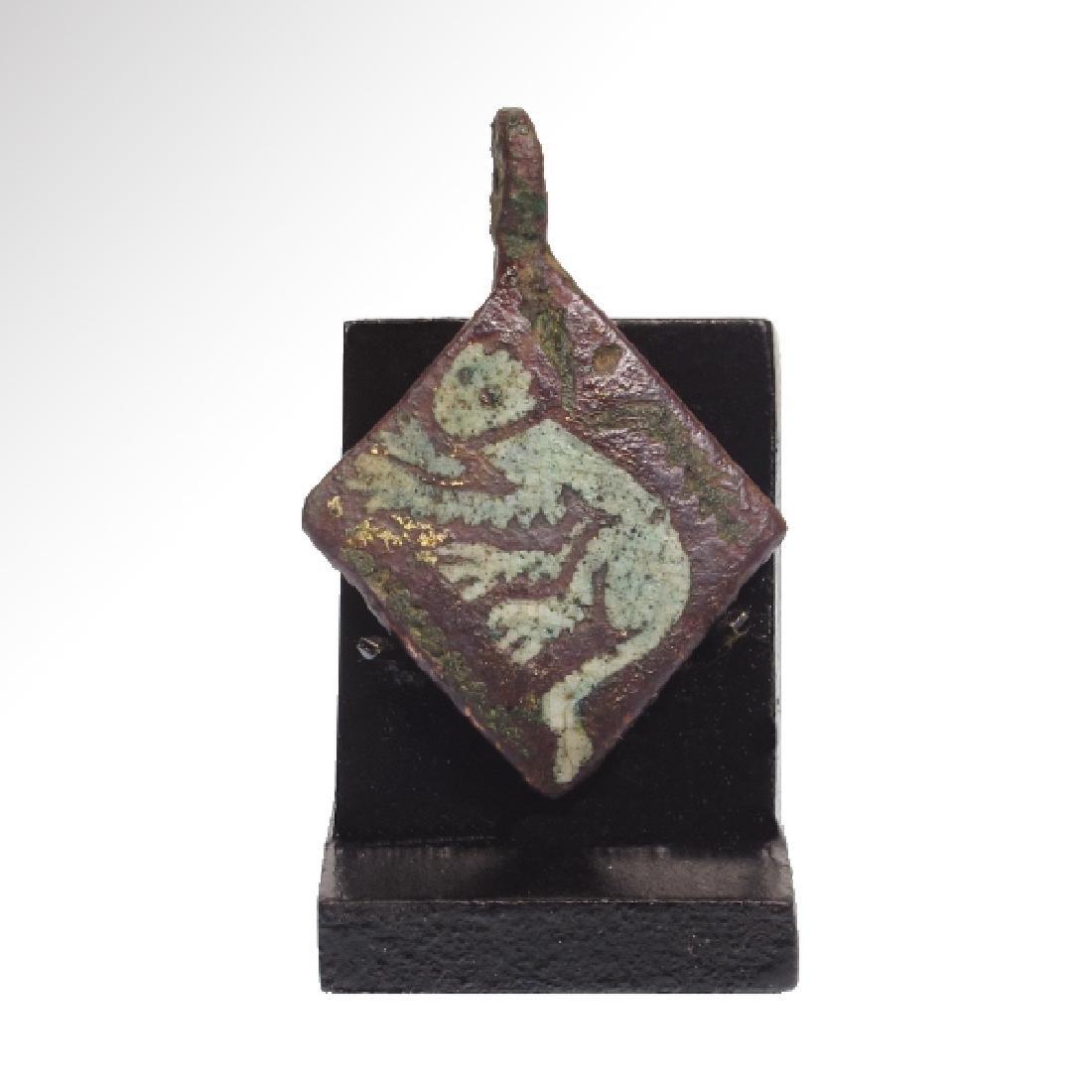 Medieval Enamelled Bronze Pendant - 3