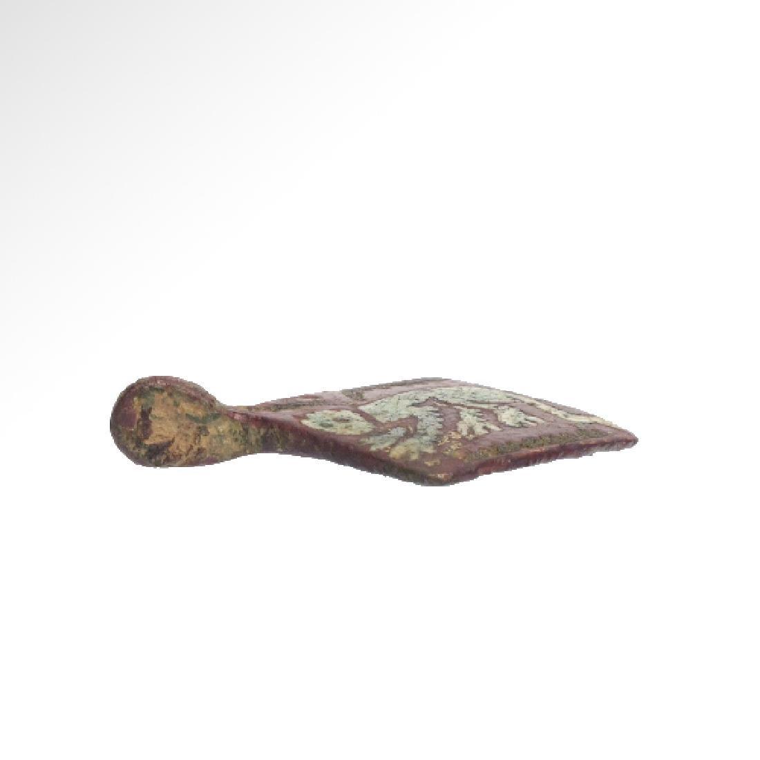 Medieval Enamelled Bronze Pendant - 5