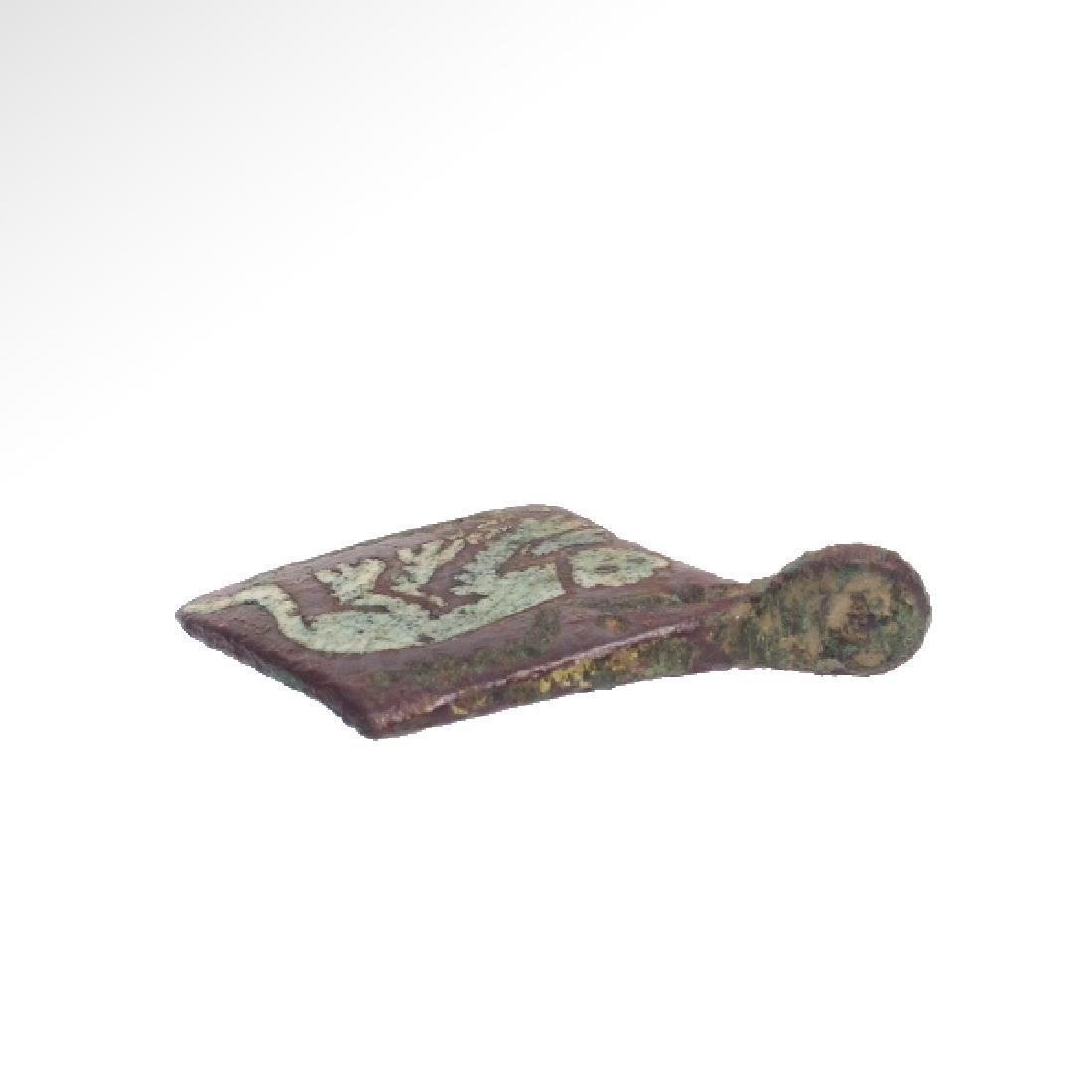 Medieval Enamelled Bronze Pendant - 6