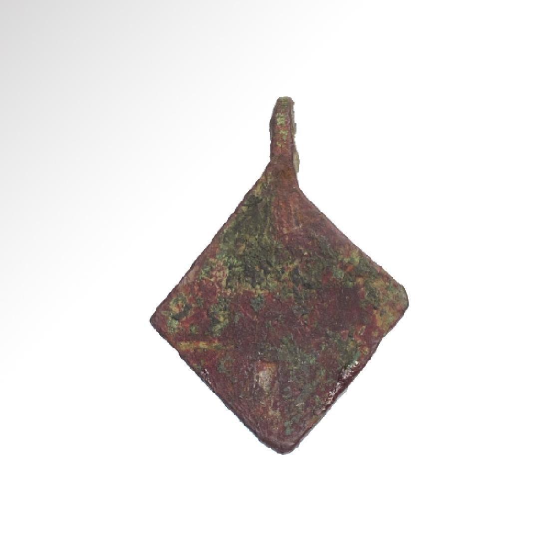 Medieval Enamelled Bronze Pendant - 7