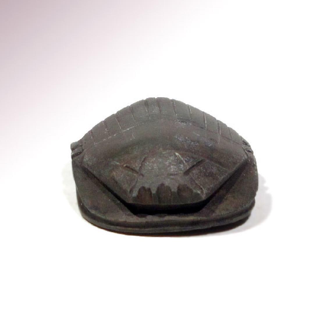 Egyptian Black Steatite Heart Scarab, c. 664-332 B.C. - 3
