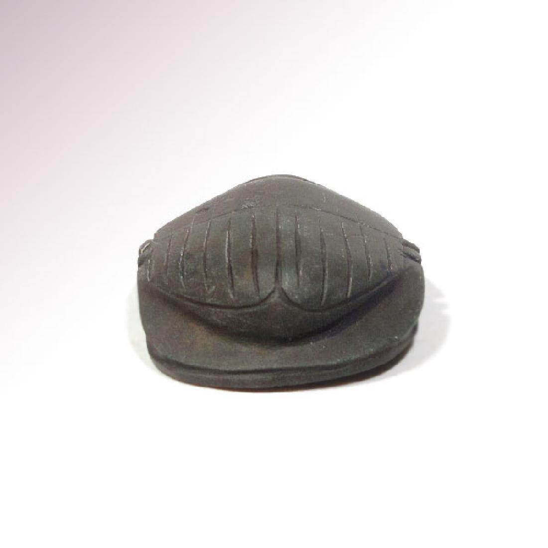 Egyptian Black Steatite Heart Scarab, c. 664-332 B.C. - 6