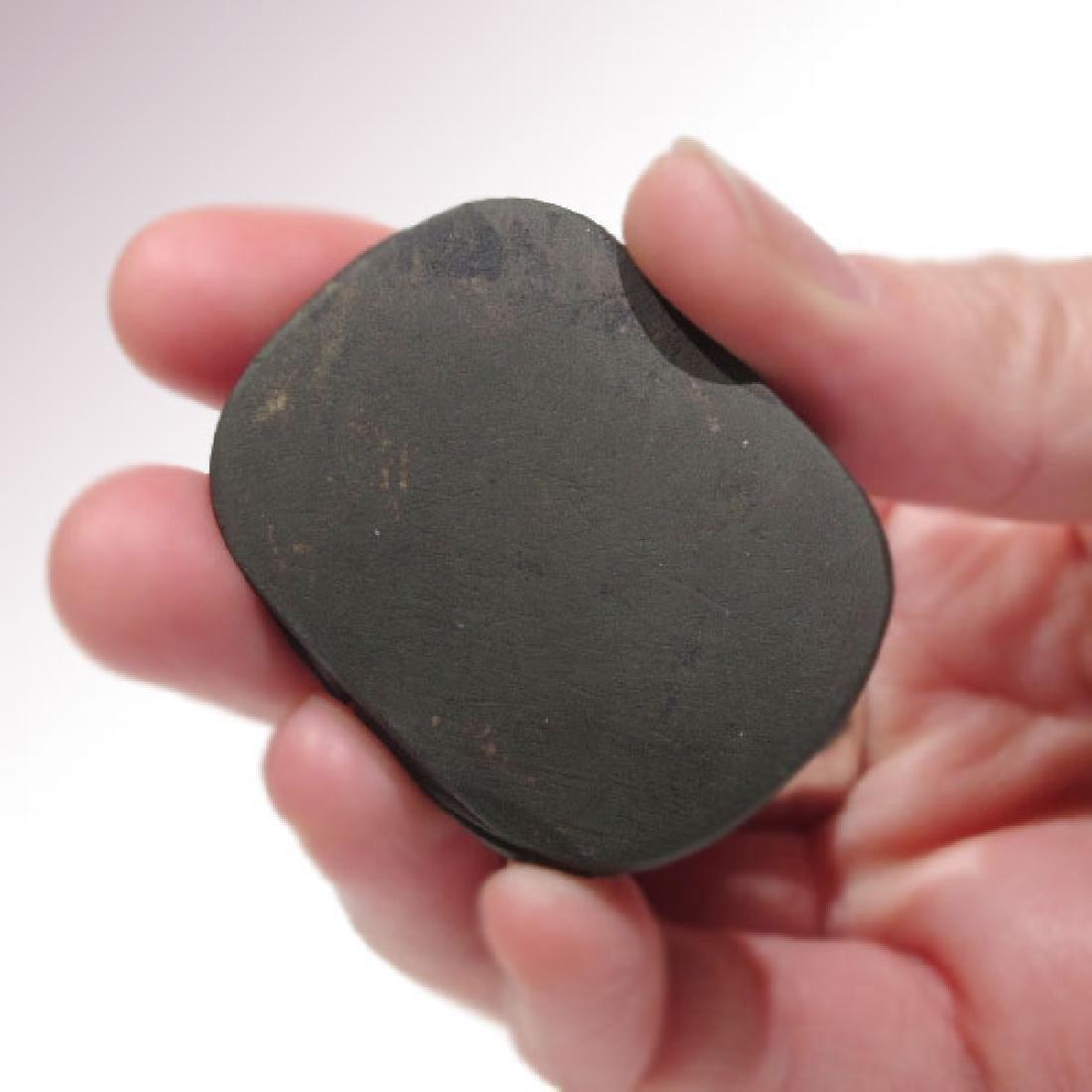 Egyptian Black Steatite Heart Scarab, c. 664-332 B.C. - 7