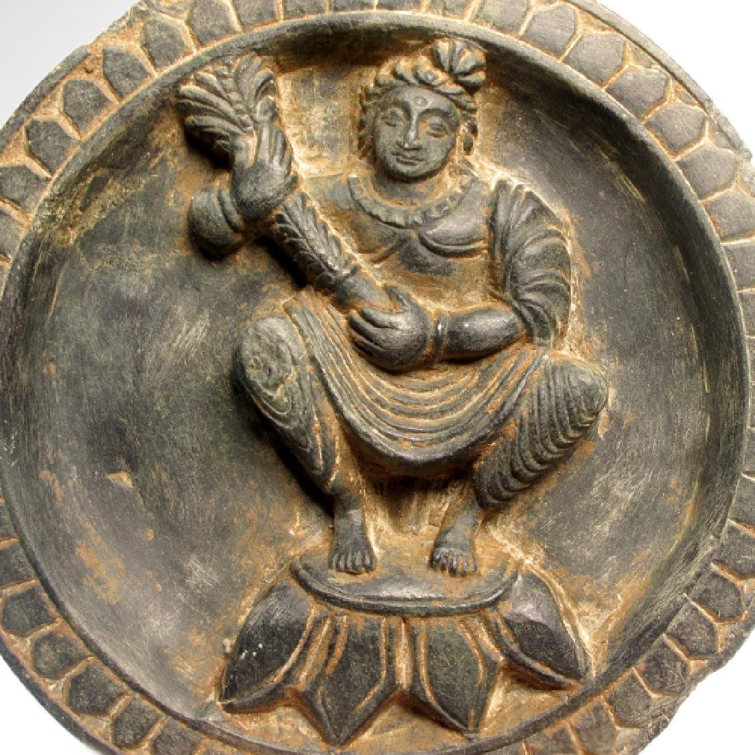 Gandhara Schist Cosmetic Palette with Buddha, 3rd - 2