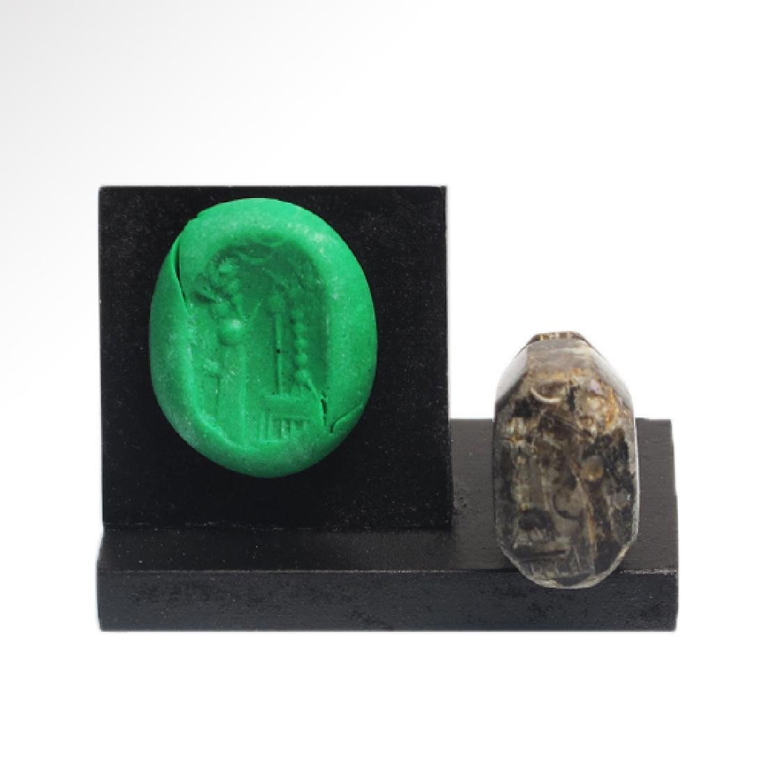 Agate Neo-Babylonian / Neo-Assyrian Stamp Seal, c.