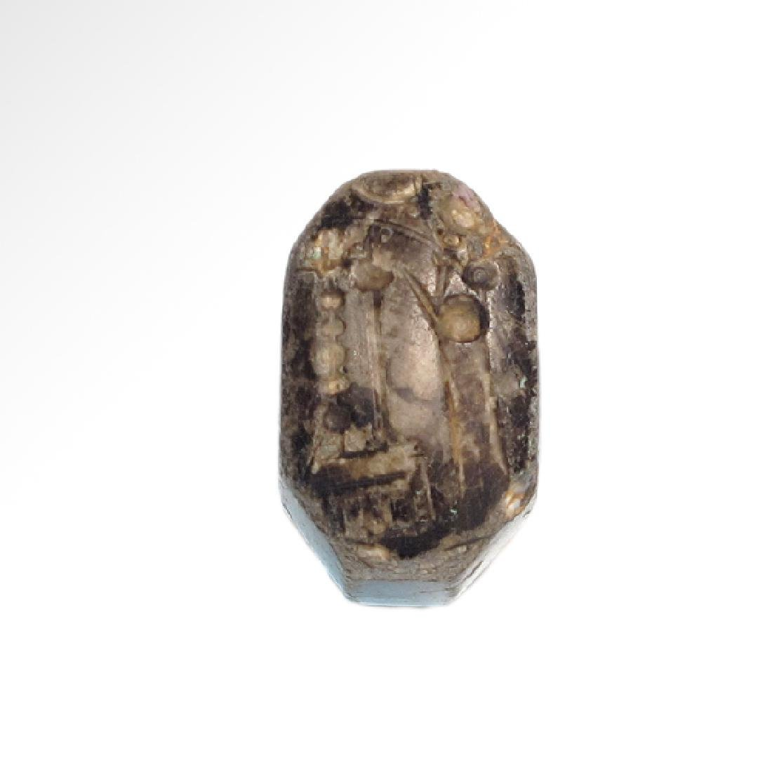 Agate Neo-Babylonian / Neo-Assyrian Stamp Seal, c. - 2