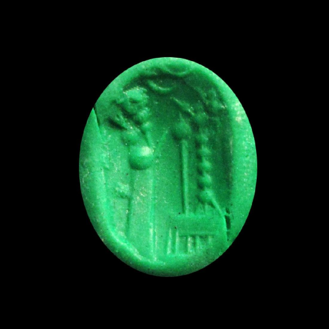 Agate Neo-Babylonian / Neo-Assyrian Stamp Seal, c. - 3