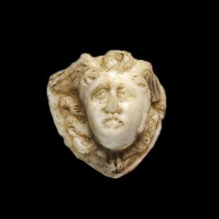 Roman Agate Cameo, Head of a Medusa, 1st - 2nd Century