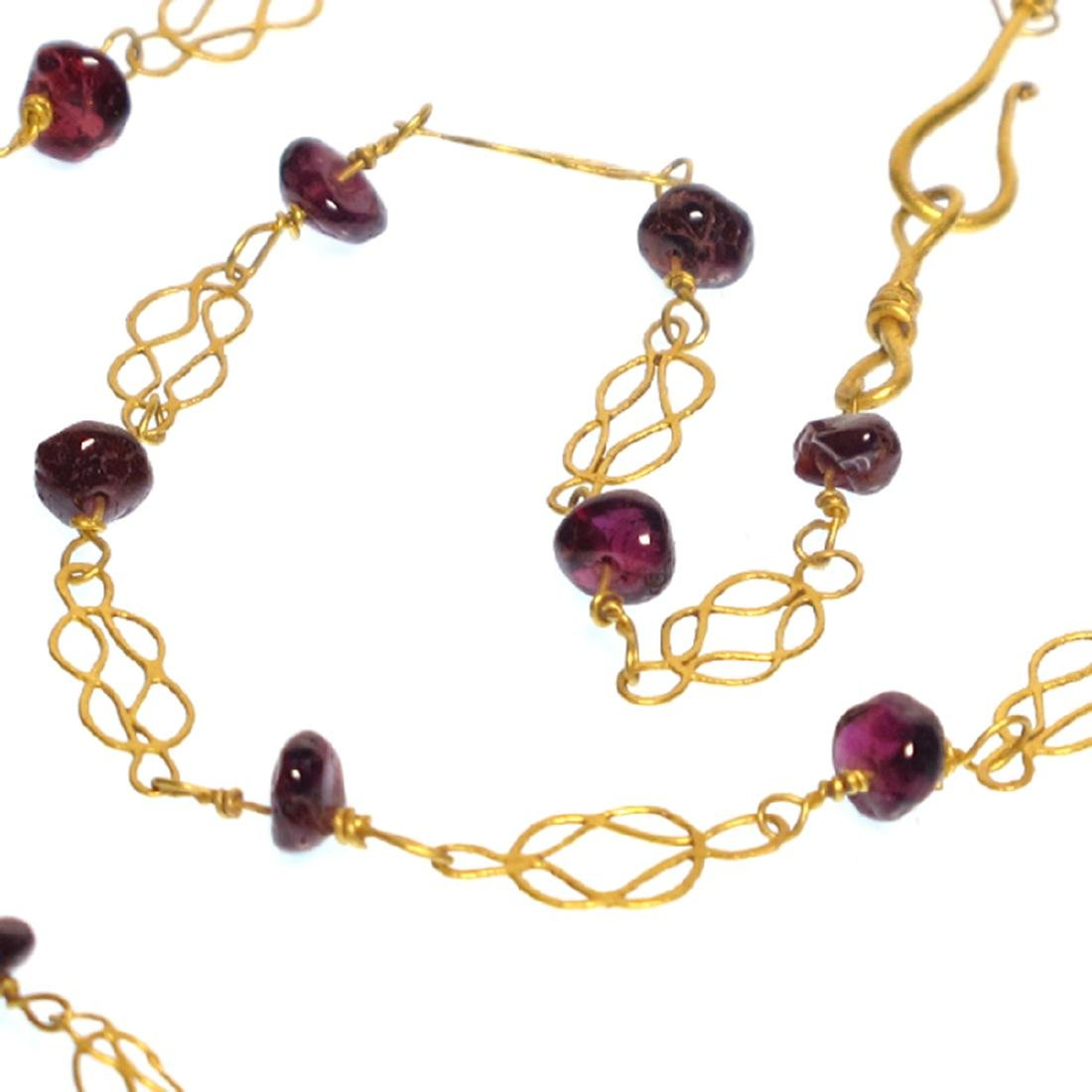 Roman Gold and Garnets Necklace, 3rd-4th Century A.D.