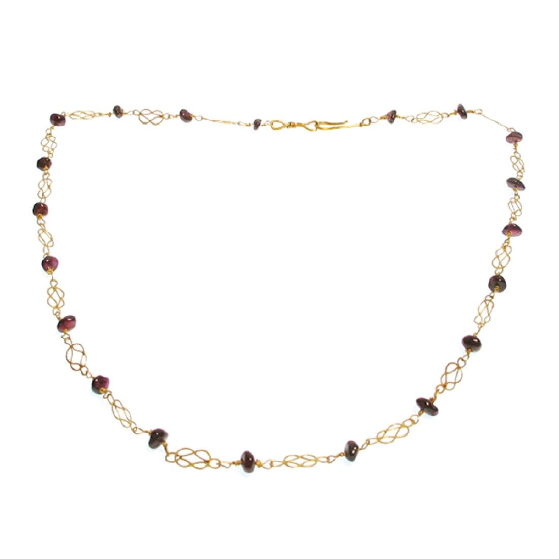 Roman Gold and Garnets Necklace, 3rd-4th Century A.D. - 2