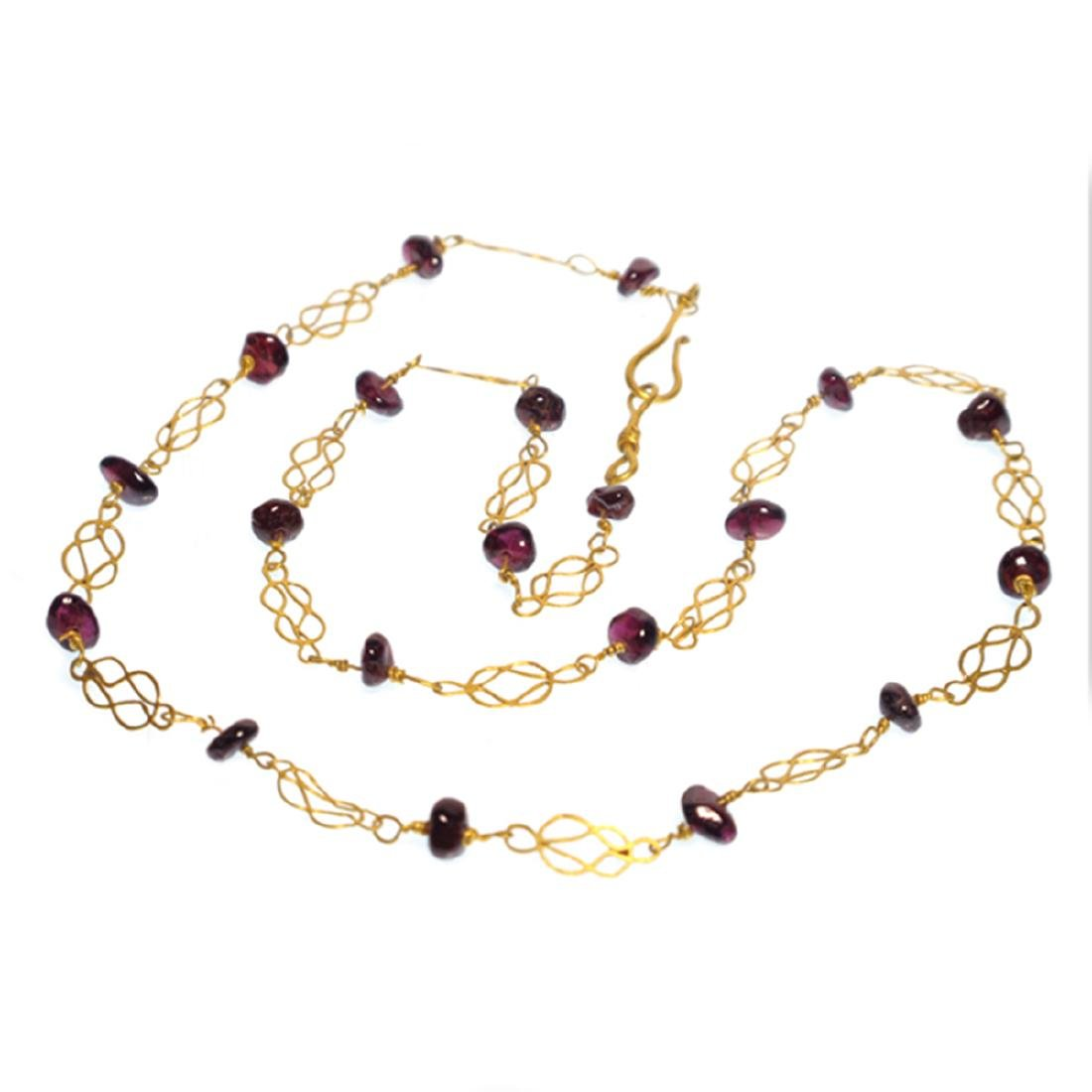 Roman Gold and Garnets Necklace, 3rd-4th Century A.D. - 3