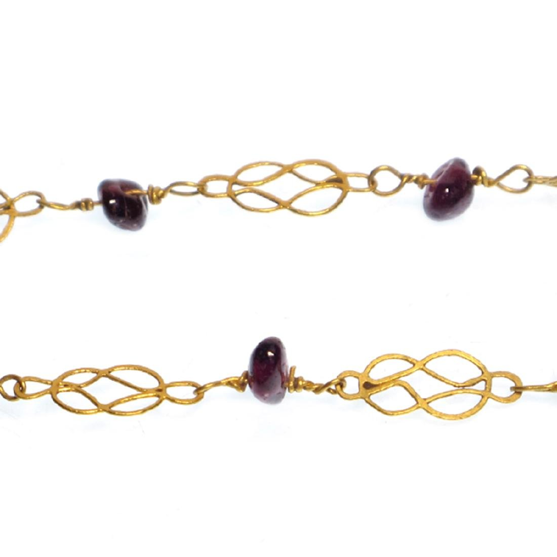 Roman Gold and Garnets Necklace, 3rd-4th Century A.D. - 4