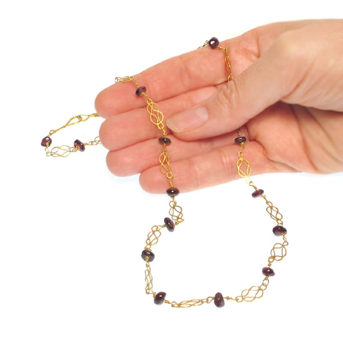 Roman Gold and Garnets Necklace, 3rd-4th Century A.D. - 6