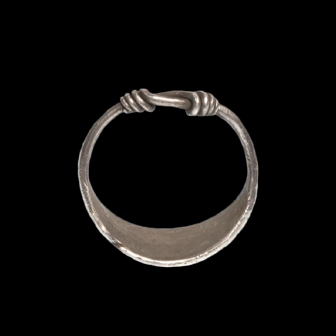 Viking Silver Ring with Wolf's Tooth Decoration - 6