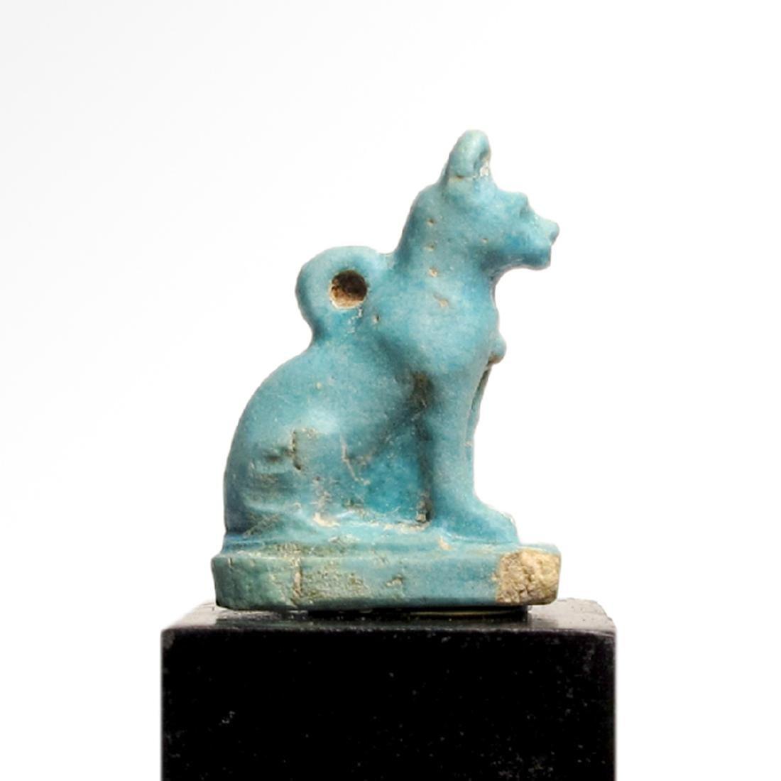 Egyptian Faience Cat Amulet, c. 900 B.C. - 2