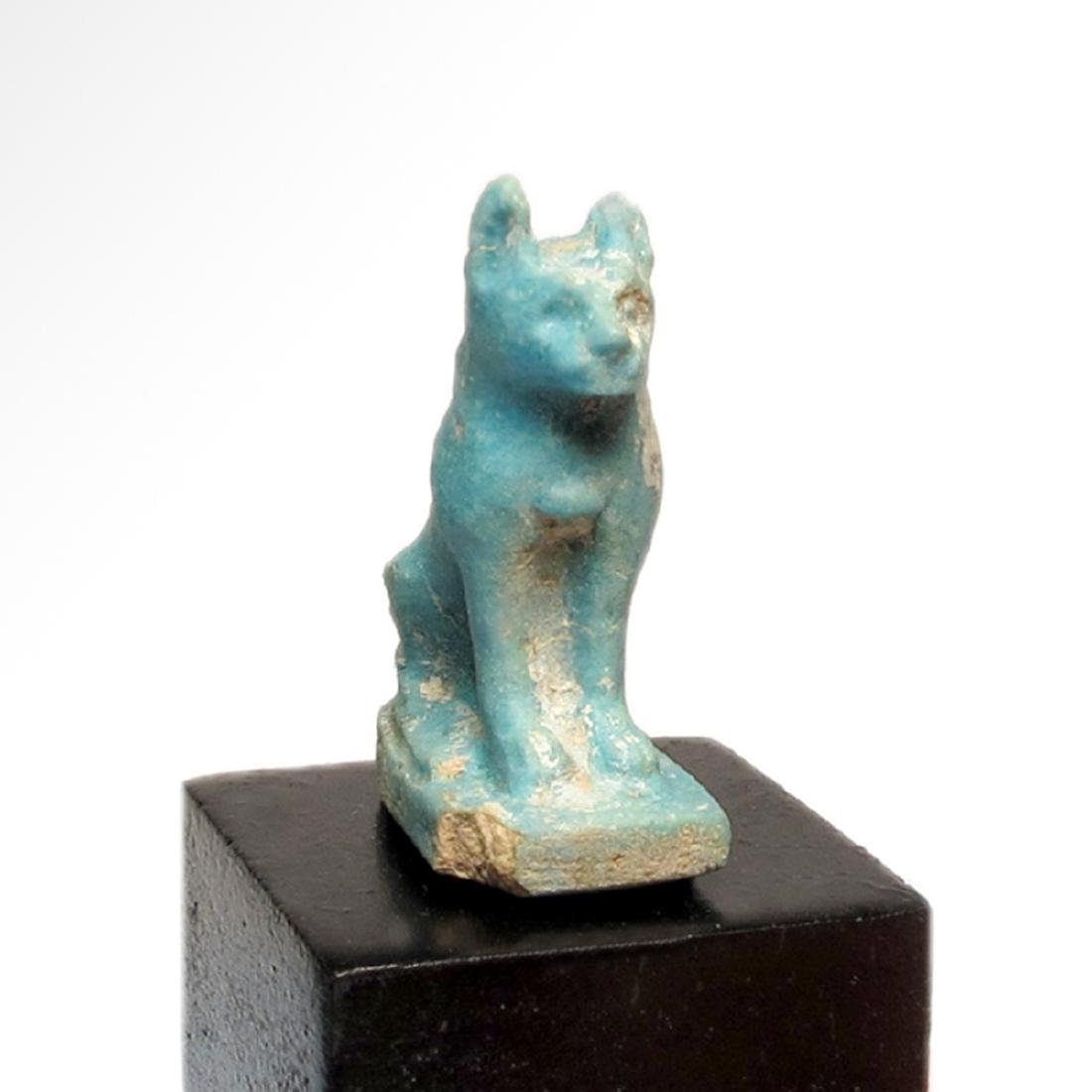 Egyptian Faience Cat Amulet, c. 900 B.C. - 4