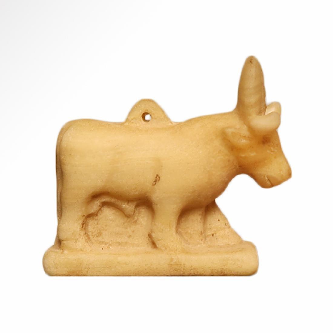 Egyptian Alabaster Amulet Figure of an Apis Bull, c. - 3