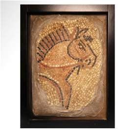 Roman Mosaic of a Horse, c. 3rd Century A.D.