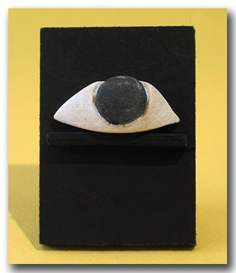 10: Egyptian Steatite Eye Inlay, c. 500 B.C.