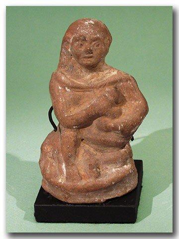 17: Egyptian Alexandrian Terracotta Figure