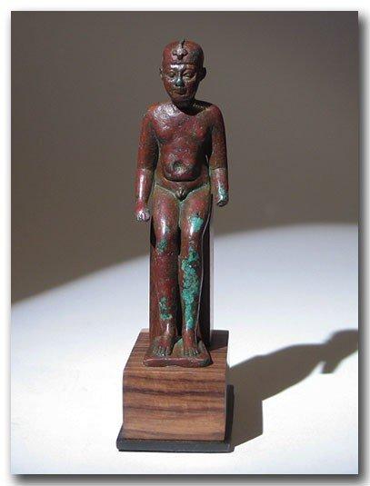 19: Egyptian Bronze Figure Of Harpocrates,
