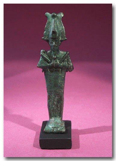 21: Bronze Figure of Osiris, 900 B.C.