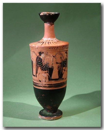 54: Greek Attic Black Figures Lekythos