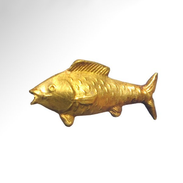 Egyptian Gold Amulet of a Fish, Amarna, 18th Dynasty