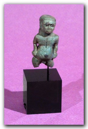 Egyptian Turquoise Faience Amulet of Pataikos,c. 350 BC