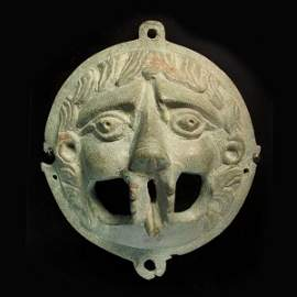 Large Bronze Lion Mask,Roman 2nd-3rd Century